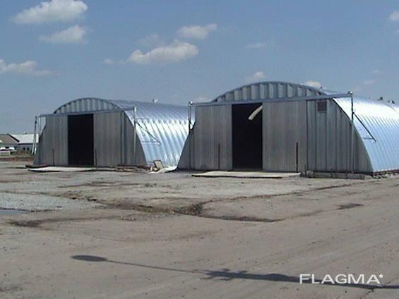 Ангары бескаркасные заводского изготовления полнокомплектной поставки - Днепр, Украина.