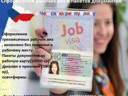 Оформление Чешских рабочих виз. - фото 1