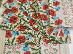 Продается ткань (рогожка, 100% хлопок) для скатертей - фото 2