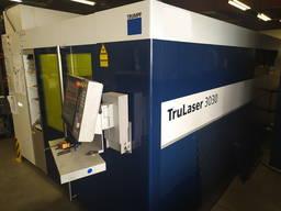 Установка лазерного раскроя Trumpf TruLaser 3030 Fiber, 3 kW, 2015 г. в.