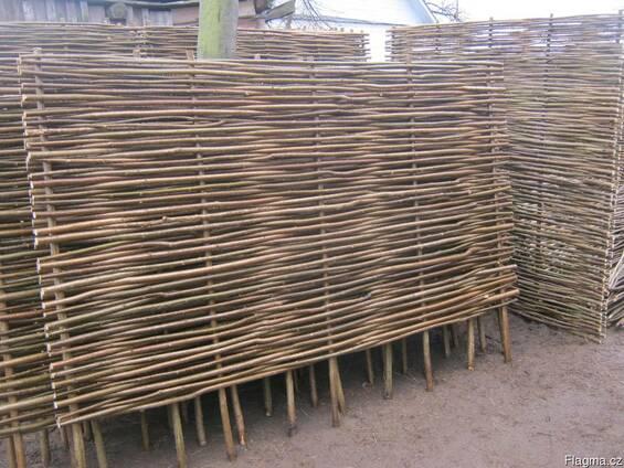 Забор с орешника